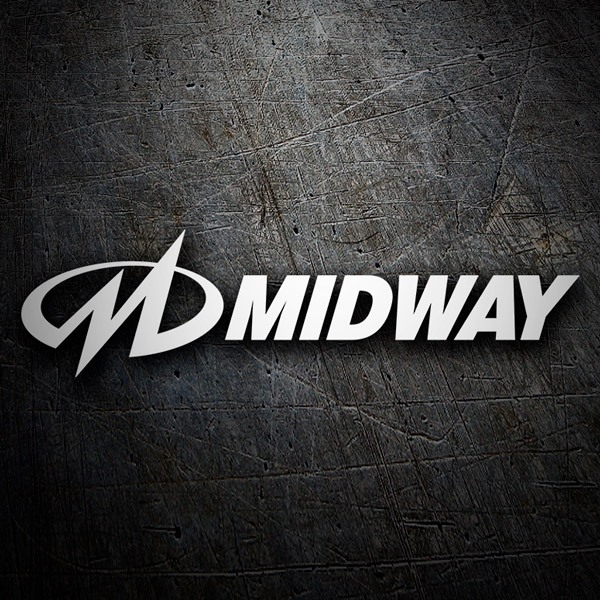 Car & Motorbike Stickers: Midway Logo