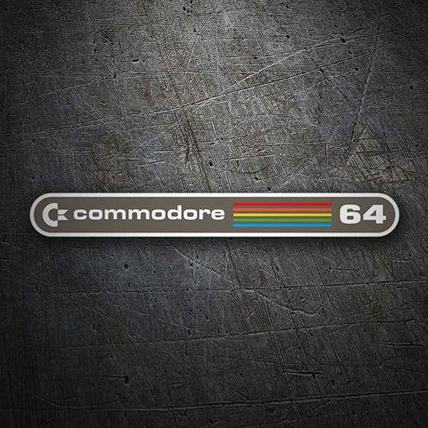 Car & Motorbike Stickers: Commodore 64 Logo