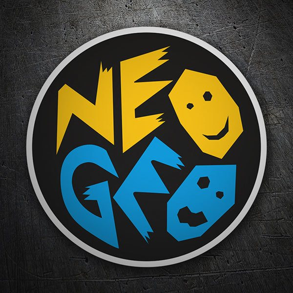 Car & Motorbike Stickers: Neo-Geo Faces