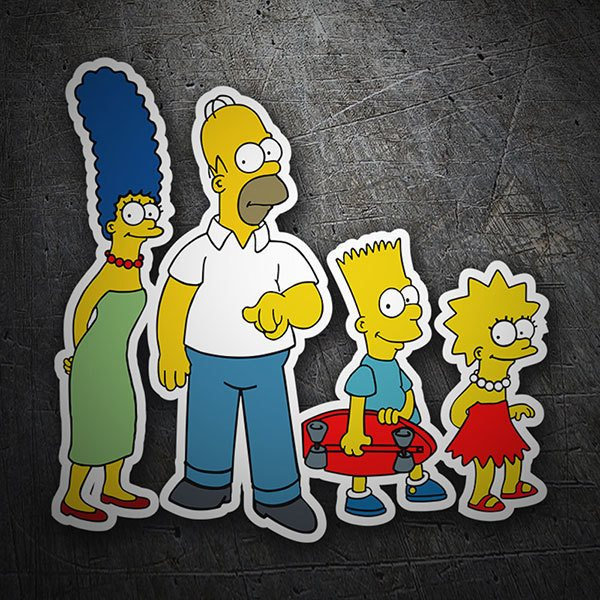 Car & Motorbike Stickers: The Simpsons