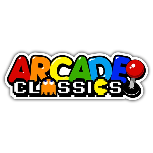 Sticker Arcade Classics | MuralDecal.com