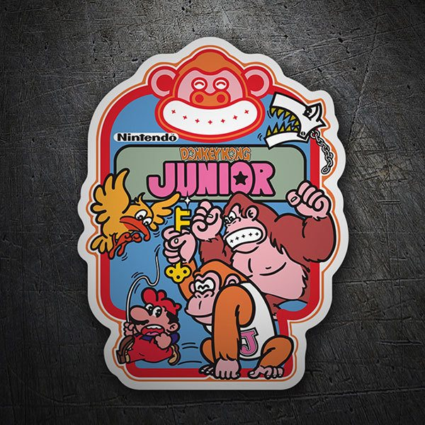 Car & Motorbike Stickers: Donkey Kong Junior Videogame 1