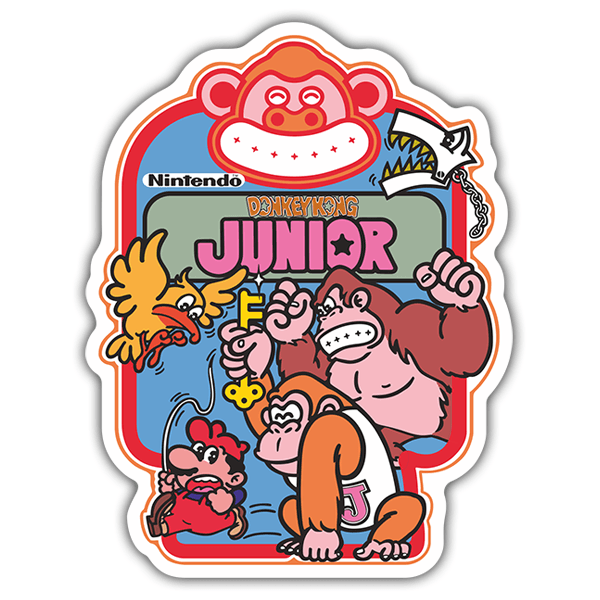Car & Motorbike Stickers: Donkey Kong Junior Videogame 0