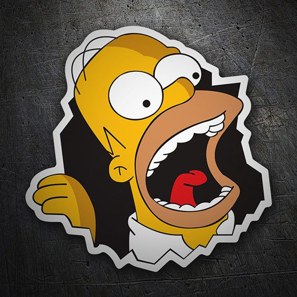 Car & Motorbike Stickers: Homer eats walls