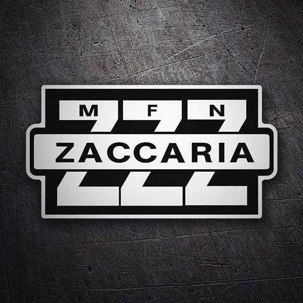 Car & Motorbike Stickers: Zaccaria Logo