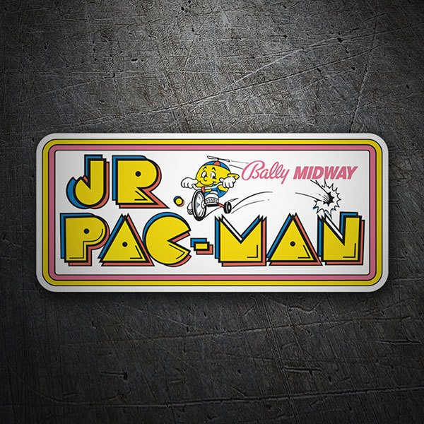 Car & Motorbike Stickers: Jr. Pac-Man