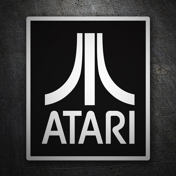 Car & Motorbike Stickers: Atari Negative