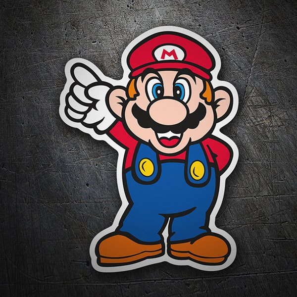 Car & Motorbike Stickers: Super Mario Top
