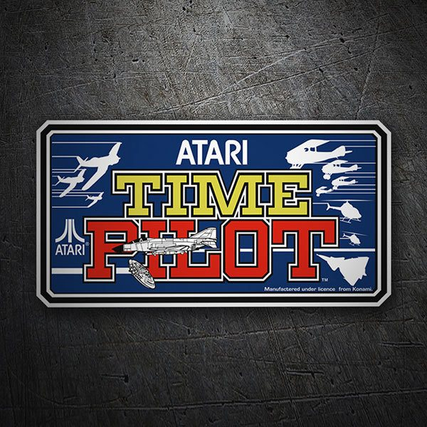 Car & Motorbike Stickers: Time Pilot