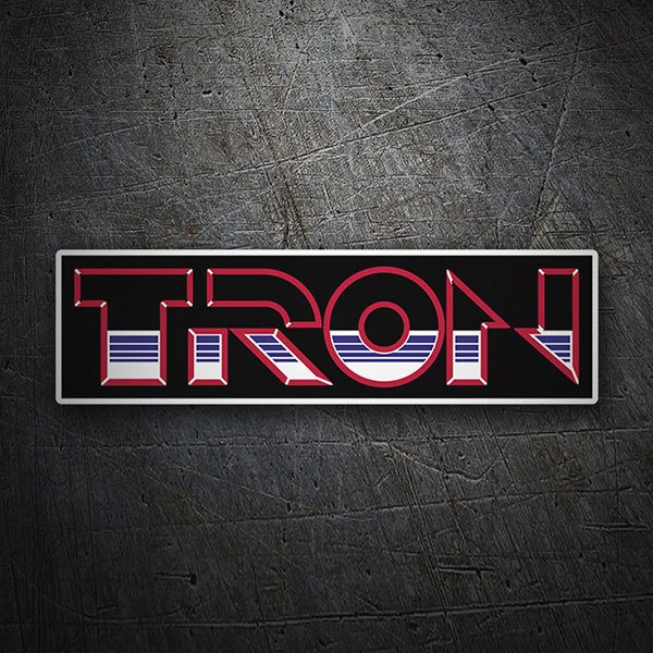 Car & Motorbike Stickers: Tron