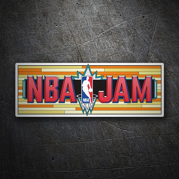 Car & Motorbike Stickers: NBA Jam