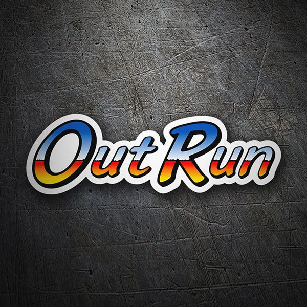 Car & Motorbike Stickers: Out Run