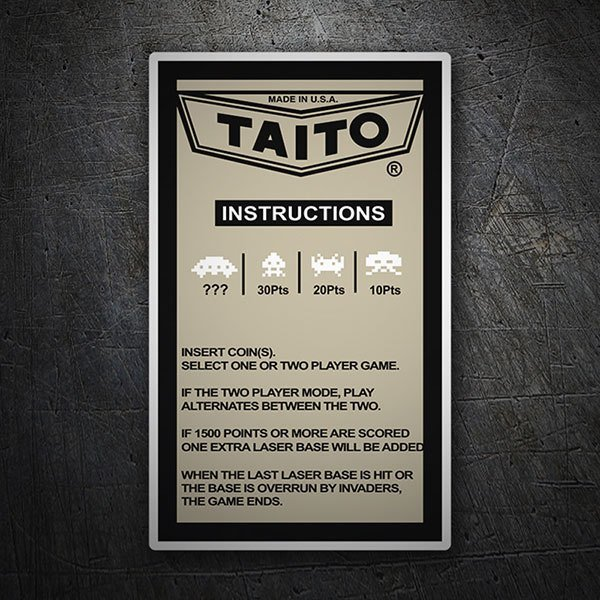Car & Motorbike Stickers: Taito Instructions