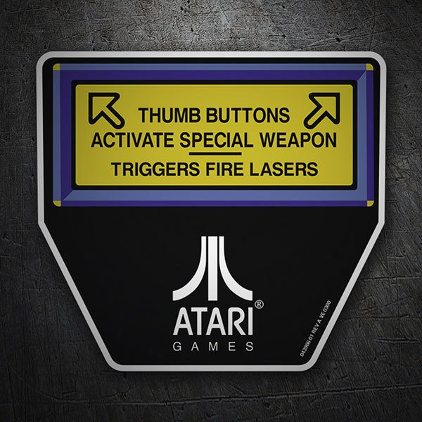 Car & Motorbike Stickers: Atari Thumb Buttons