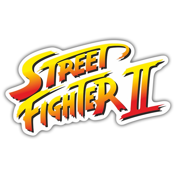 Sticker Street Fighter Ii Logo Muraldecal Com