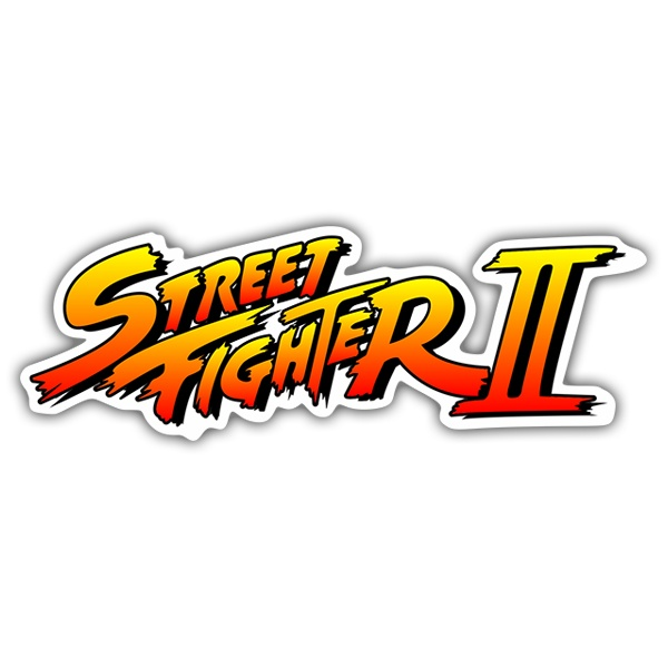 Sticker Street Fighter Ii Logo Shadow Muraldecal Com