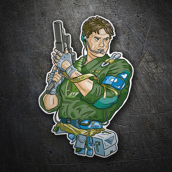 Car & Motorbike Stickers: Solid Snake Cartoon