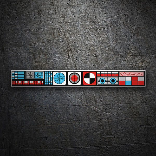 Car & Motorbike Stickers: Arcade Control Panel