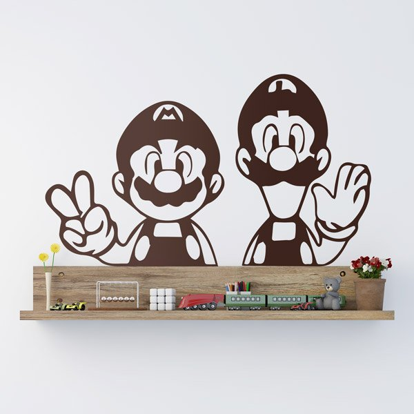 Car & Motorbike Stickers: Mario and Luigi