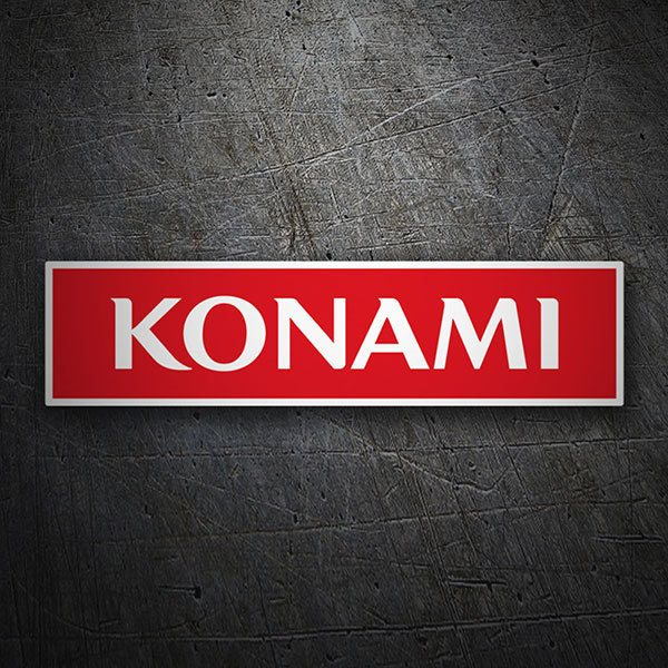 Car & Motorbike Stickers: Konami Logo