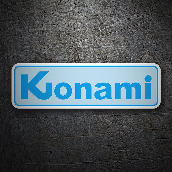 Car & Motorbike Stickers: Konami 1981 Blue