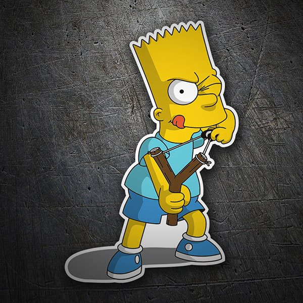 Car & Motorbike Stickers: Bart Simpson with slingshot
