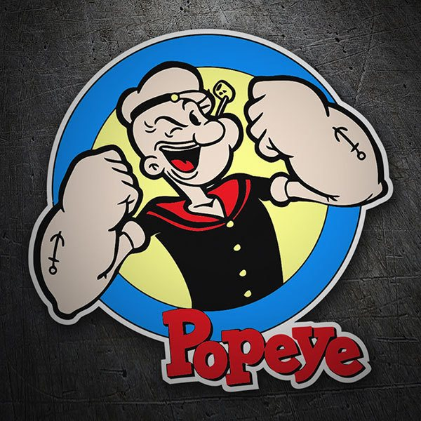 Car & Motorbike Stickers: Popeye the Sailor Man