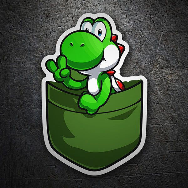 Car & Motorbike Stickers: Yoshi in your pocket