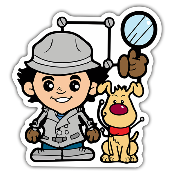 Car & Motorbike Stickers: Inspector Gadget Cartoon