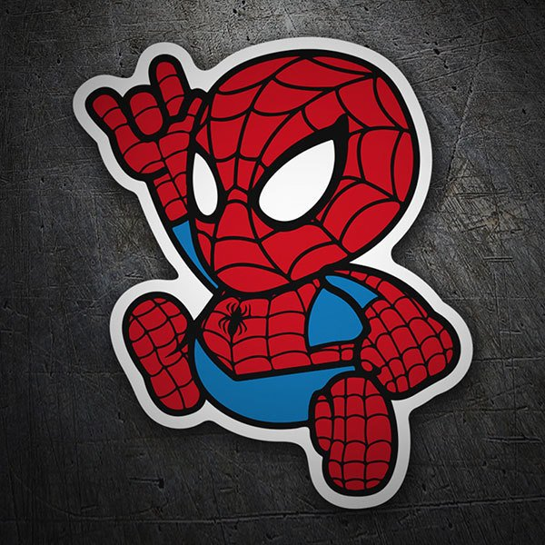 Car & Motorbike Stickers: Spiderman Cartoon