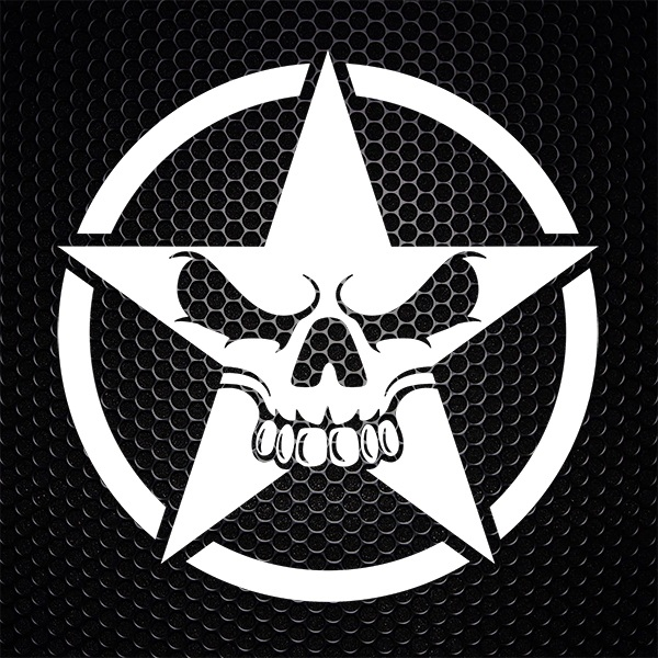 Car & Motorbike Stickers: Skull Star