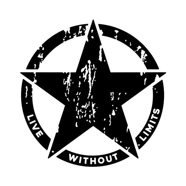 Car & Motorbike Stickers: Live whith out limits Army