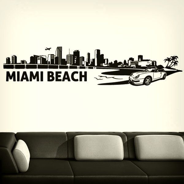 Wall Stickers: Miami Skyline