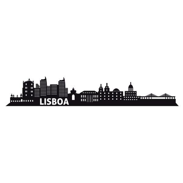 Wall Stickers Lisbon Skyline