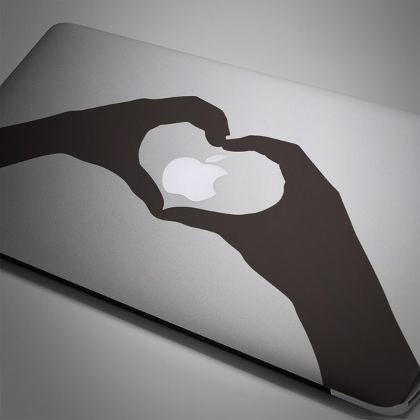 Car and Motorbike Stickers: Silhouette hands heart