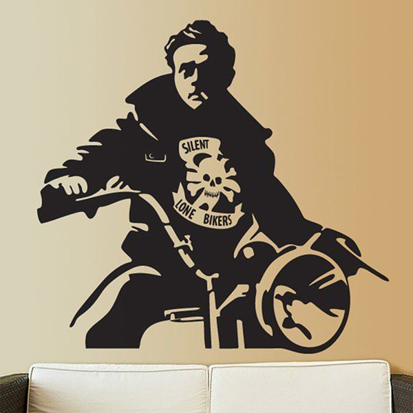 Wall Stickers: James Dean Motorbike
