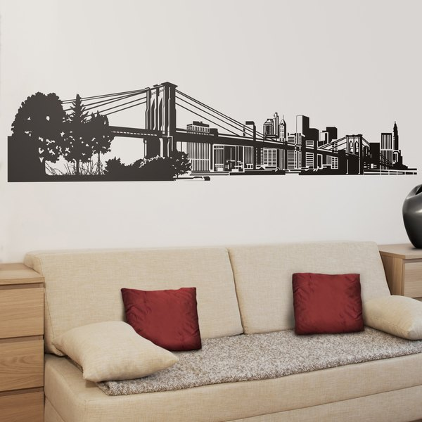 wall sticker new york skyline | muraldecal