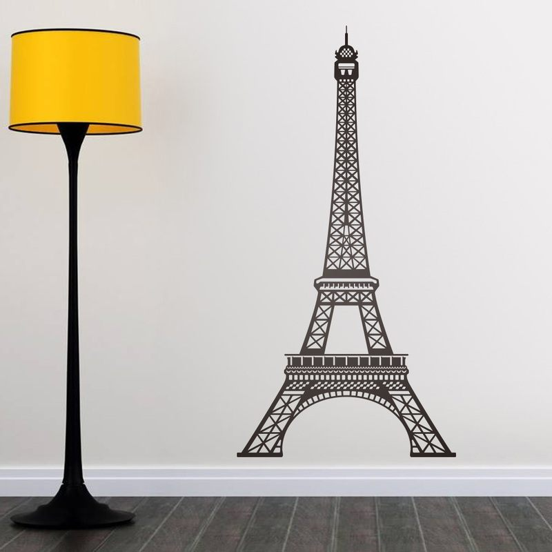 eiffel tower eiffel tower paris wall safe movable wall sticker