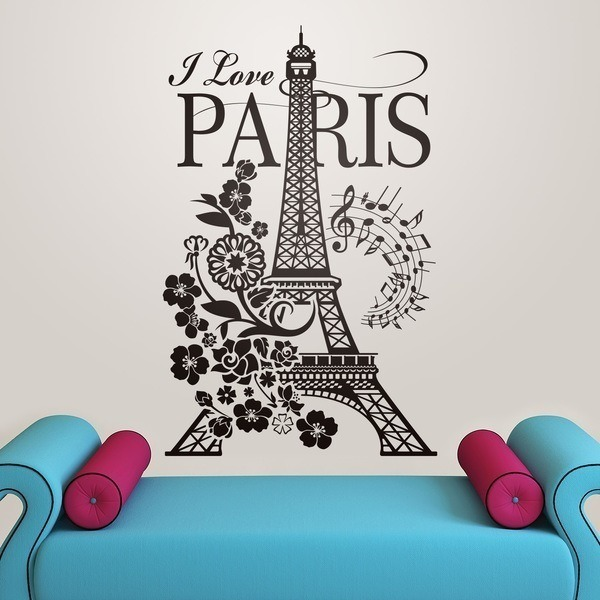 Wall Stickers: I Love Paris