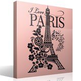 Wall Stickers: I Love Paris 6