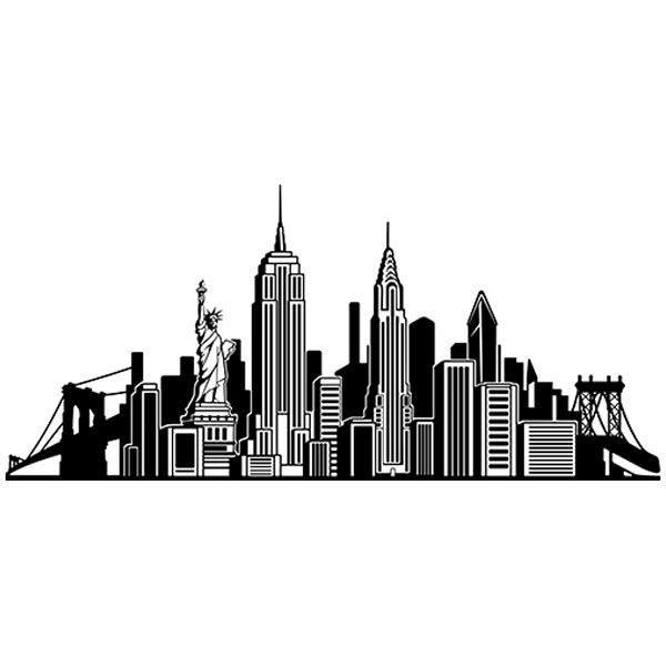 Macbook sticker new york skyline for Vinilos pared new york