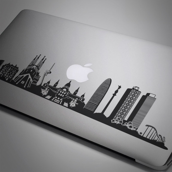 Car and Motorbike Stickers: Barcelona Skyline