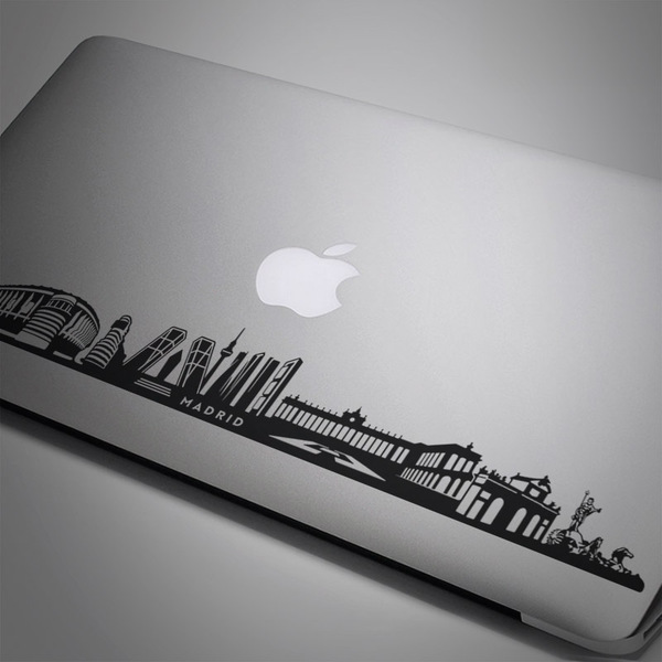 Car & Motorbike Stickers: Skyline of Madrid