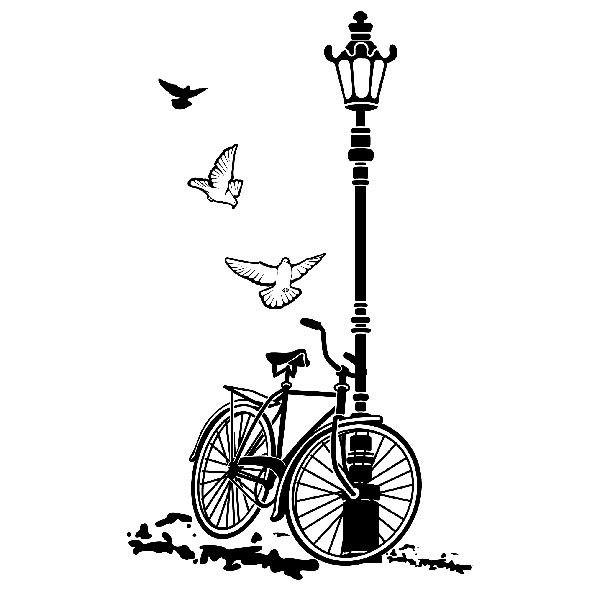 Wall Stickers: Bicycle and Lamp