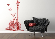Wall Stickers: Bicycle and Lamp 6