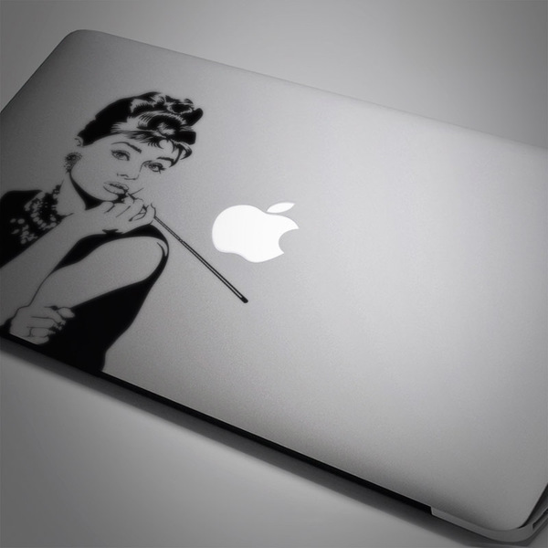 Car and Motorbike Stickers: Audrey Hepburn