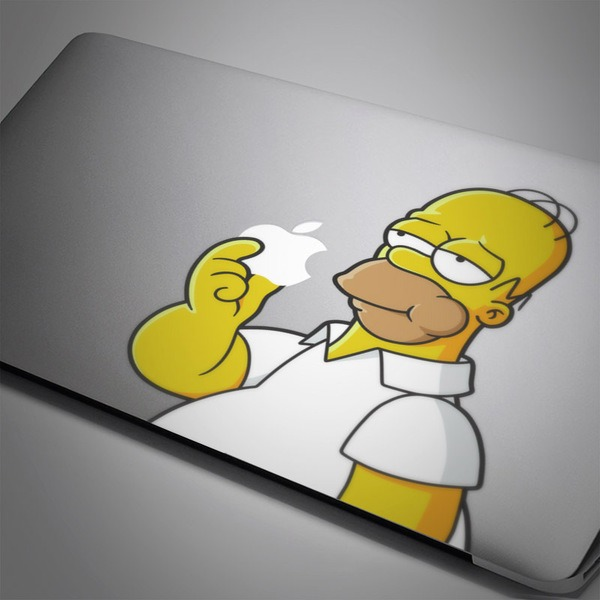Car and Motorbike Stickers: Homer Simpson