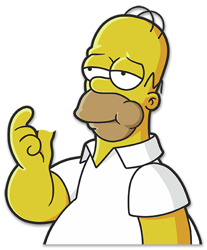 Car And Motorbike Stickers Homer Simpson