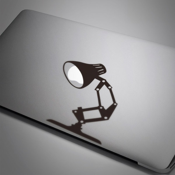 Car & Motorbike Stickers: Reading lamp Pixar