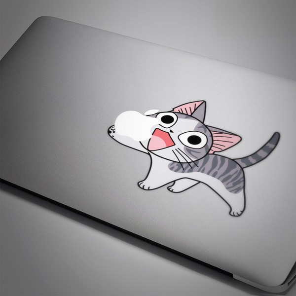 Car & Motorbike Stickers: Cat Eating Apple